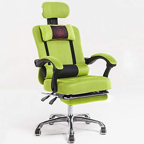 DFMD verstelbare bureaustoel, in hoogte verstelbaar, Sedie voor computer draaibare stoel met draaistoel, elektronische speelstoel voor vrije tijd, net, blauw, groen