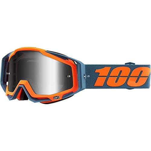 100% 50110-386-02 Racecraft Kilroy Brille, Spiegel Linse, Erwachsene, Grau/Orange