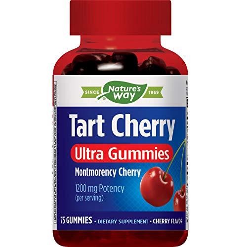 Nature's Way Tart Cherry Ultra Montmorency Cherry 1200 mg potency 75 Gummies
