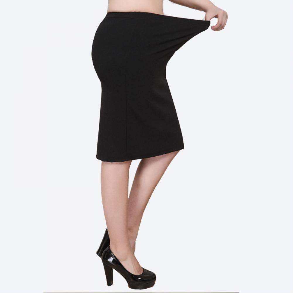 WEDFGX Xl-8Xl Plus Size Ladies Summer Dress Casual Black Plus Size Office Ladies Work Skirt 6XL 7XL Stretch Ol Skirt Clothing