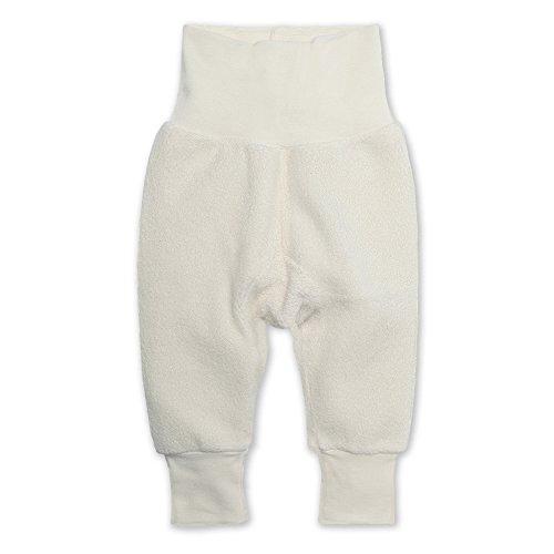 Zutano Unisex Baby Cozie Fleece Cuff Pants, Baby Sweatpants for Boys and Girls, Cream, 18M