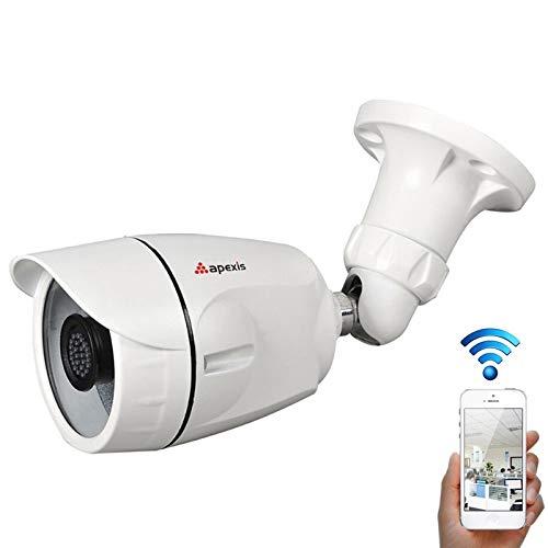 Security Cameras Cámaras HD apexis AH6104BW WiFi 1.0MP Bullet 720P Cámara IP, Soporte de visión Nocturna/detección de Movimiento, Distancia IR: 12-18m Cámaras al Aire Libre