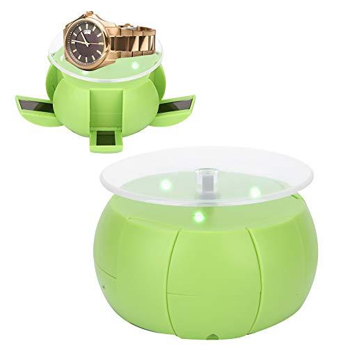 DAUERHAFT Ring Display Tray Rotierender Displayständer Solarenergie für das Handy-Watch-Display für den Heimgebrauch