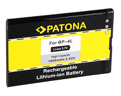 Batería BP-4L   BP4L para Nokia 6650   6650 fold   6760 slide   E6-00   E52   E55   E61i   E63   E71   E72   E90   E90 Communicator   N97   N810   N810 Internet Tablet   N810 WiMAX Edition y mucho más… [ Li-ion, 1600mAh, 3.7V ]