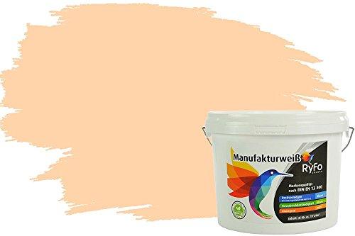 RyFo Colors Bunte Wandfarbe Manufakturweiß Crèmeorange 3l - weitere Orange Farbtöne und Größen erhältlich, Deckkraft Klasse 1, Nassabrieb Klasse 1