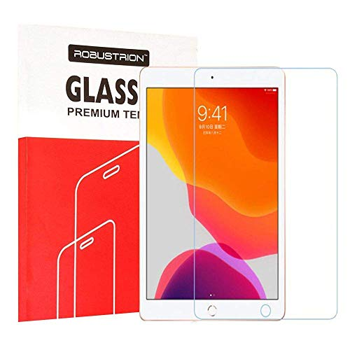 Robustrion Anti-Scratch & Smudge Proof Premium Tempered Glass Screen Protector for iPad 9.7 2017/2018 5th/6th Generation
