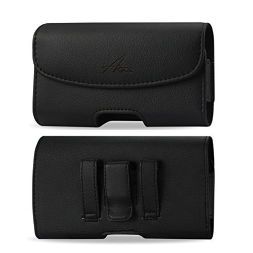 AGOZ Carrying Premium Leather case for Essential Phone PH-1, Pouch Holster Cover with Belt Clip & Belt Loops