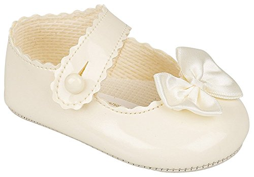 Baypods Baby Mädchen Kinderwagenschuhe Taufe Party Early Days Cream 3-6 Monate