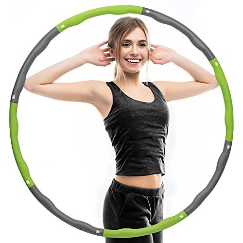 Tsock Hula Reifen Hoop Erwachsene, Abnehmbarer 8 Segmente zur Gewichtsabnahme und Massage 1.2 kg