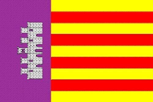 U24 Aufkleber Mallorca Flagge Fahne 8 x 5 cm Autoaufkleber Sticker