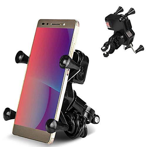 Yener Universele motorfiets Mobiele telefoon Oplaadhouder Standaard met USB-oplader Fiets Telefoon Bevestigingsbeugel