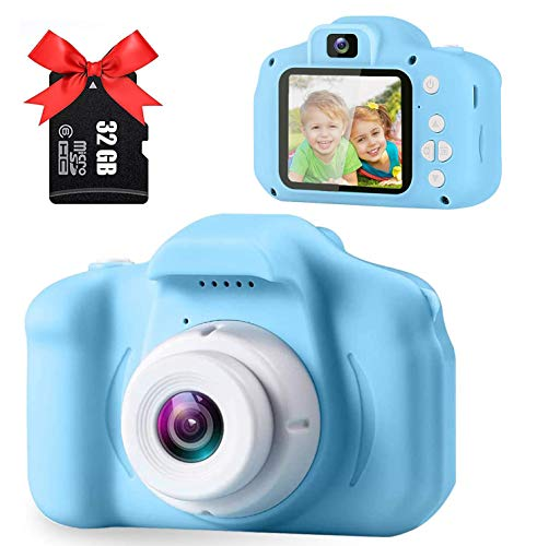 OICGOO Upgrade Kids Selfie Camera, 2 Inch 1080P HD Cameras, Toddler Action Camera Children Video Recorders Best Boys Girls Birthday Party, for Kids with 32G SD Card