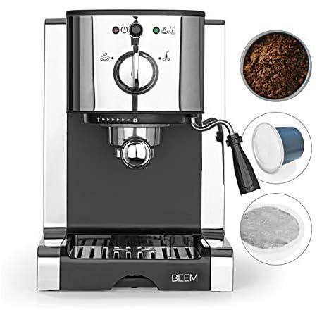 BEEM ESPRESSO-PERFECT   Porte-filtre à espresso avec pompe de 20 bars   Convient aux capsules et aux dosettes de café   Avec buse de moussage du lait intégrée pour un véritable plaisir du café