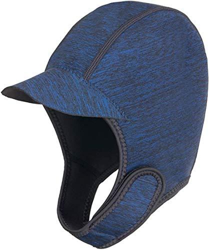 Unisex Wetsuit Hood 2MM Neoprene Scuba Diving Cap Men Women Swim Cap with Brim Adjustable Dive Hood Hat Water Sport Hood Hat Surfing Hat for Kayaking Paddle Sailing Surf Rafting (Blue)