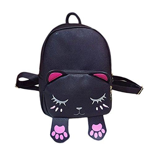 Damen&Mädchen Rucksack Schultasche Katze Form Tornister Mappe Daypacks Schulranzen für Outdoor