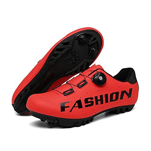 BING FENG Zapatillas de Ciclismo, Calzado sin Bloqueo/automloqueado de Calzado Deportivo de Doble Uso. Zapatos Casuales Road MTB MTT Mountain Bike Zapatos de Bicicleta para Hombres y Mujeres