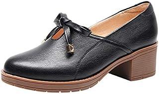 [ジョイジョイ] パンプス、、婦人靴、レディースシューズ ブラック、カジュアル、オフィス、ビジネス 大きいサイズ 小さい 蝶結び シンプル 春夏秋 通勤通学 美脚 歩きやすい 疲れない クラシック 可愛い