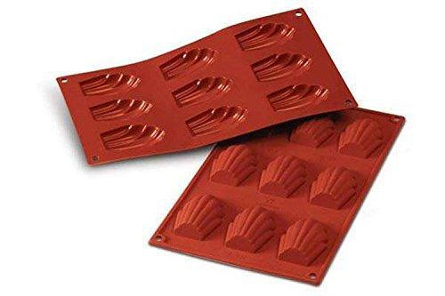 SF032 Molde de Silicona, 9 cavidades, Color Terracota