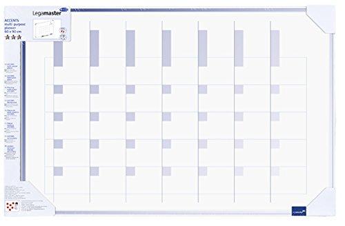 Legamaster 7-490500-1 Accents Plan-whiteboard, bedrukt met multifunctionele planner, gelakt stalen oppervlak, kijkverpakking, 90 x 60 cm