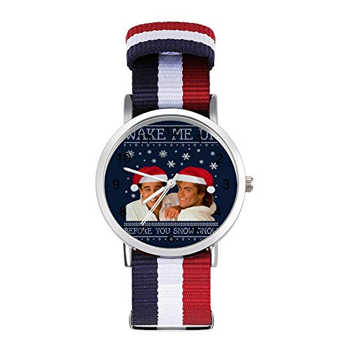 Wake Me Up Before You Snow Wham Christmas Knit Loisirs Montre tressée avec échelle