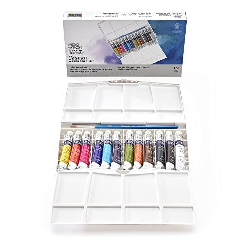 Oferta de Winsor & Newton acuarela Cotman - Caja de acuarela en tubo Pintor Plus - set de 12 tubos de 8ml, colores surtidos