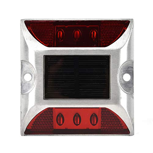 2PCS LED Solar Floor Lights, Waterproof Floor Lights LED Path Lights, IP68 Waterproof Driveway Street Stud Outdoor Lamp voor verschillende weersomstandigheden