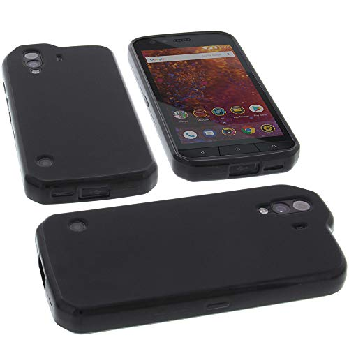 foto-kontor Funda para Cat S61 Protectora de Goma TPU para móvil Negra