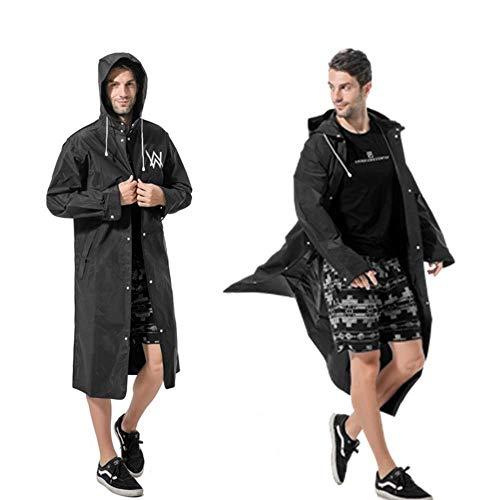 N/F Black Raincoat Eva Printed Logo Pattern Tide Brand Outdoor Windbreaker Travel Long Allen Raincoat Poncho