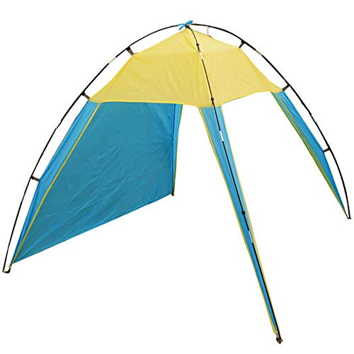 ZYF Portable Outdoor Shelter Beach Tent Summer Anti-UV Tent 200x200x150cm Camping Roof Tent 1.1 Kg,Sky Blue
