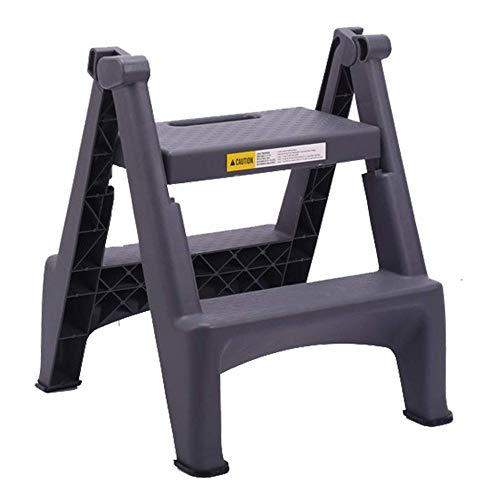 yjll Huishoudelijke vouwen Stap Kruk - Auto Wassen Professionele Twee Stap Ladder Dikke Kunststof Pedaal Binnen Ladder Ladder Kleine Ladder