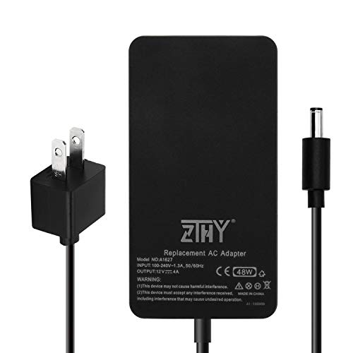 ZTHY 48W 12V 4A 1627 AC Adapter Charger Replacement for Microsoft Surface Pro 3 Docking Station 1664 Power Supply Transformer with Power Cord