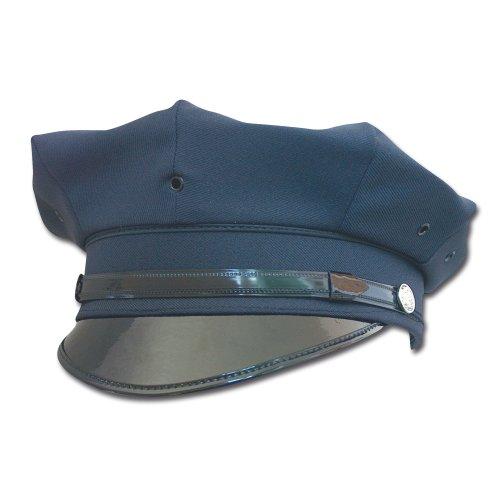 Mil-Tec Mil-Tec US Police Schirmmütze mit Abzeichen Fasching Swat Polizei Mütze Cap schwarz oder blau S-XXL (XXL, Dunkelblau)