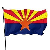 アリゾナ州旗 国旗 運動会 代表応援用 市民の日 スポーツ 応援グッズ お祝いモード 室内掲揚可 玄関飾り特大 150×90cm