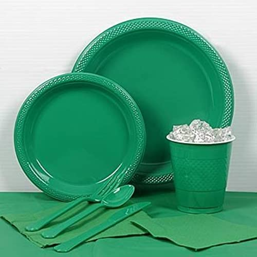 Emerald vert Plastic Party For 20 by Shindigz