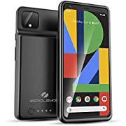 Google Pixel 4 XL Battery Case 8000mAh, ZeroLemon Ultra Power Extended Battery with Soft TPU Full Edge Protection Case for Google Pixel 4 XL - Black