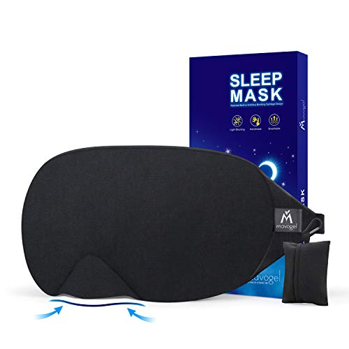 Mavogel Cotton Sleep Eye Mask - Updated Design Light Blocking Sleep Mask, Soft and...