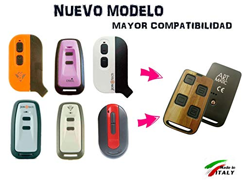 Mando DE Garaje Compatible Universal Art Matic Codigo Fijo y Variable 433 MHz 868 MHz. Ultima tecnologia