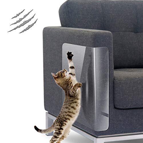 Dohump 10 Stück Kratzschutz Klebefolien, 44cm *31cm Transparentes Katzen Kratzschutz Möbel, Anti Kratz Katzen Folie für Sofa, Tür, Wand