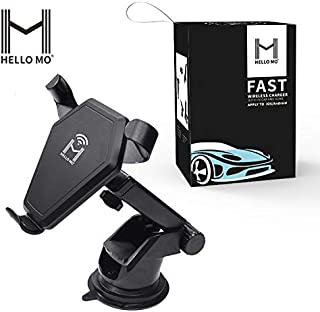 Hello MO Wireless Charger Dashboard & Windshield Car for iPhone Xs ,IPhone Max ,iPhone XR ,iPhone 8 ,iPhone7 +,Samsung Galaxy S10,Note 10 ,S9 S8 S6 Note 9 & Other WIRELESS CHARGEABLE SMARTPHONES