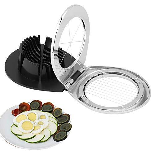 Fdit hartgekochte Eierschneider Eierschneider 2-in-1-Multifunktions-Eierschneider mit Edelstahl-Schneidedraht MEHRWEG VERPAKUNG
