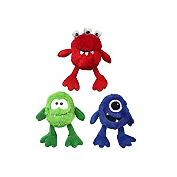 Multipet Plush Monster with Large Squeaker 9 in Assorted