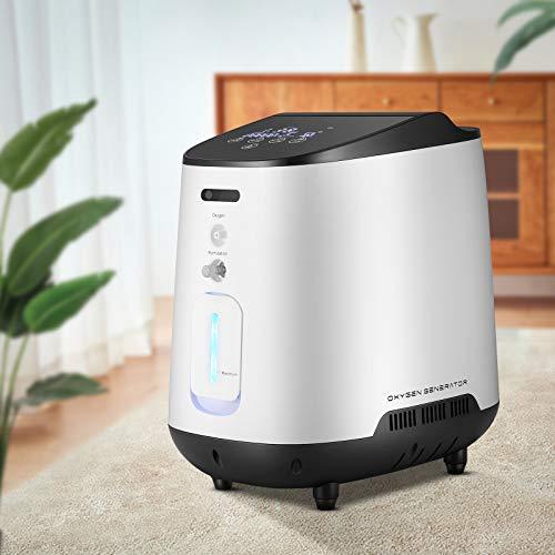 4YANG Concentrador de oxígeno, generador de máquina de oxígeno ajustable 1-7L / min 90% ± 3% Máquina de oxígeno de purificación de aire de alta pureza, entrega en 3 días