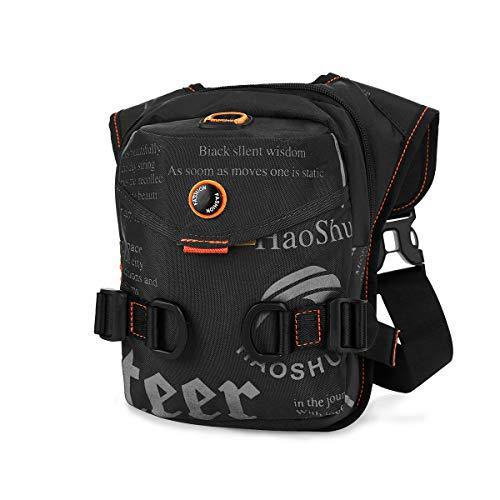 Eshow Beintasche Motorrad wasserdichte Hüfttasche für Damen und Herren Bein Hip gürteltasche zum Radfahren Wandern Klettern Camping schwarz