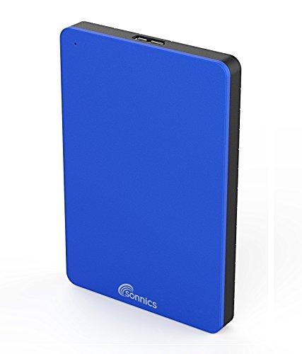 Sonnics 250GB Externe Festplatte Blau USB 3.0 für Verwendung mit Windows PC, Mac, Smart TV & Xbox 360