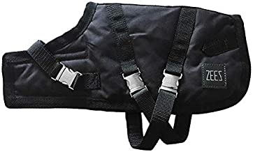 ZEEZ Supreme Oilskin Dog Coat Size 20 (51cm), Black