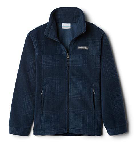 Columbia Big Youth Boys Zing III, Soft Fleece with Classic Fit, collegiate navy simple plaid, Large