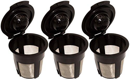 Blendin Single Reusable Refillable Coffee Filter Pod,Compatible with Keurig B40, B41, B44, B45, B50, B60, B65, B70, B75, B77, B79, K10, K40, K45, K60, K65, K70, K75, K77, K79 (3 Pack)