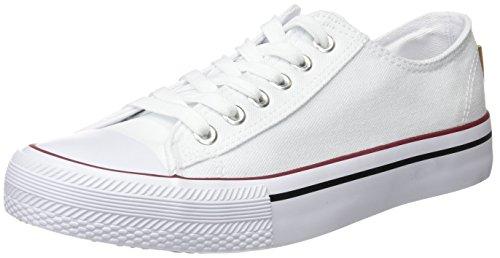 Springfield 5.T.Sneaker Puntera Goma Canvas, Zapatillas Mujer, Beige (Ivory), 41 EU