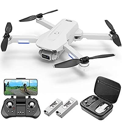 4DRC F8 GPS Drone with 4K Camera for Adults, 5G FPV Live Video, RC Quadcopter for beginners with Brushless Motor,2 Batteries,Auto Return Home, Follow Me, Circle Fly, Waypoint Fly, Carrying Case