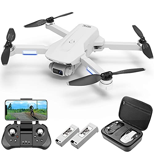 4DRC GPS Drone with 4K Camera for Adults, FPV Live Video, RC Quadcopter for beginners with Brushless Motor,2 Batteries,Auto Return Home, Follow Me, Carrying Case